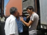 Trucks in Uzbekistan.