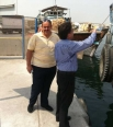 The cargo arrived at Dubai, UAE. Ashwani Kaul is personally supervising the cargo formalities.